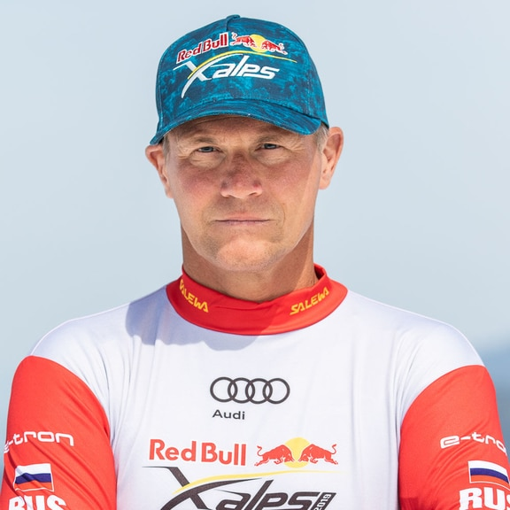 Evgenii Griaznov (RUS) poses for a portrait during the Red Bull X-Alps preparations in Wagrain, Austria on June 9, 2019