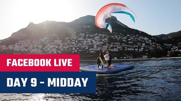 Facebook LIVE Day 11 Chrigel Maurer s float landing Red Bull X Alps 2019