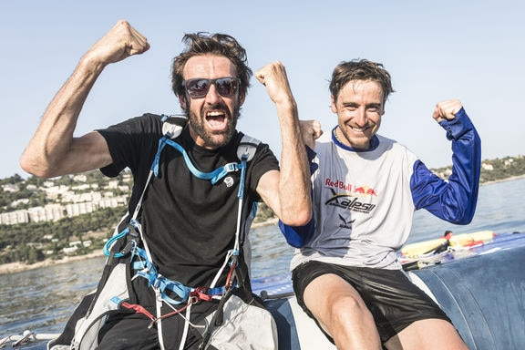 Maxime Pinots (FRA4) finishes the Red Bull X-Alps in Monaco, France on June 26, 2019