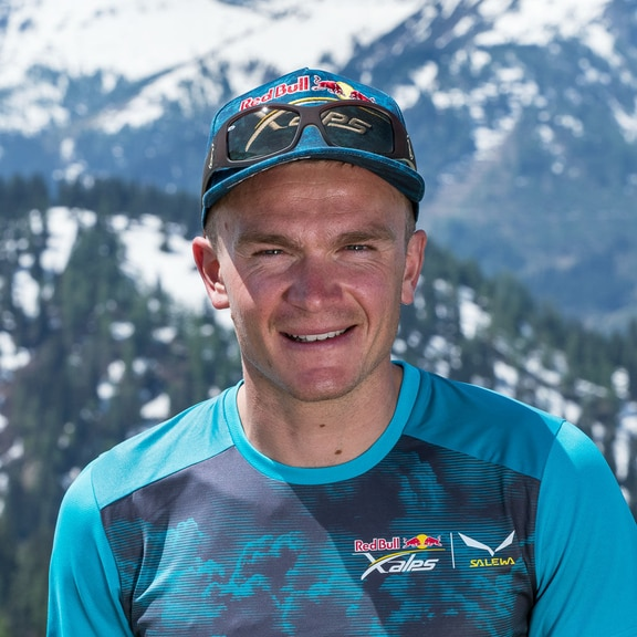 Benoit Outters (FRA1) poses for portrait during the Red Bull X-Alps preparations in Wagrain, Austria on June 9, 2019