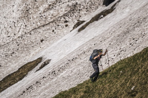 Competitors races during the Red Bull X-Alps at the Hochkönig, Austria on June 17, 2019.
