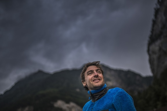 Maxime Pinot (FRA4) rests during the Red Bull X-Alps in Lauterbrunnen, Switzerland on June 20, 2019.