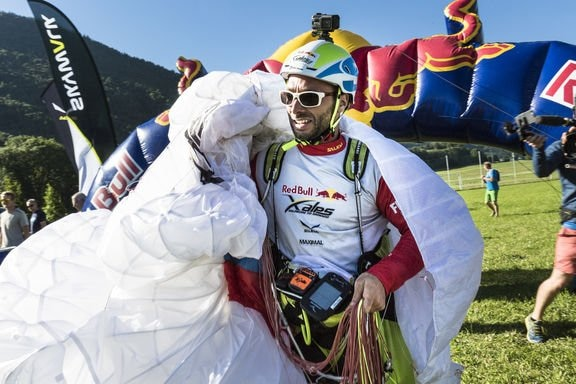 Gaspard Petiot (FRA2) is seen during the Red Bull X-Alps in Aschau, Austria on July 5th, 2017
