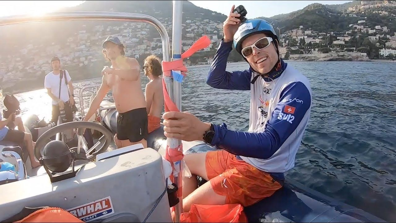 Facebook LIVE Day 12 6 athletes landing on the float in Monaco Red Bull X Alps 2019