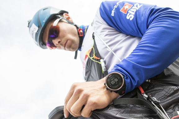 Detail of Suunto watch seen during the Red Bull X-Alps preparations of Patrick von Kanel (SUI2) in Wagrain, Austria on June 10, 2019