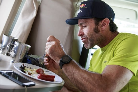 Gavin McClurg (USA1) is seen during the Red Bull X-Alps in Lermoos, Austria on July 8, 2017