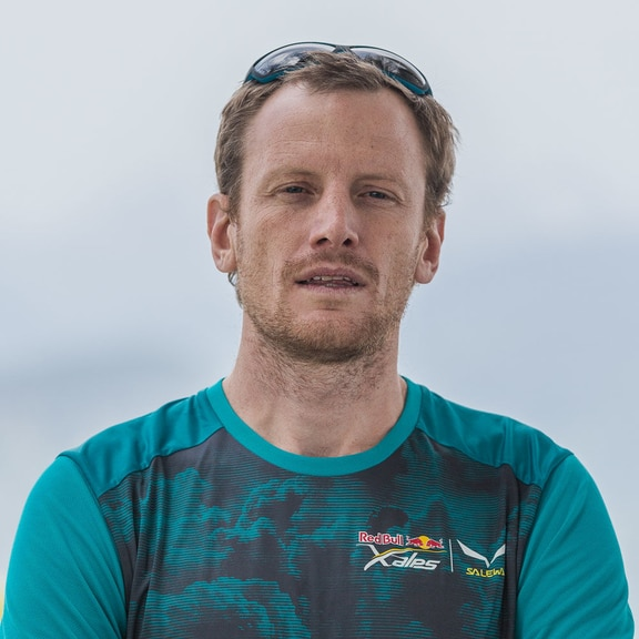 Nick Neynens (NZL1) poses for a portrait during the Red Bull X-Alps in Wagrain, Austria on June 11th, 2019