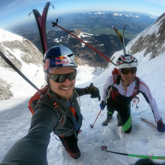 Paul Guschlbauer ski mountaineering in high alpine conditions in Austria. Photo © Paul Guschlbauer