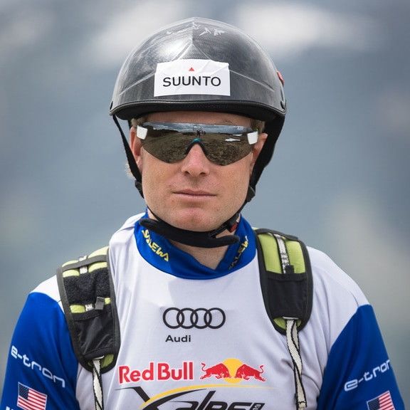 Will Cannell (USA2) poses for a portrait during the Red Bull X-Alps preparation in Wagrain, Austria on July 12, 2019