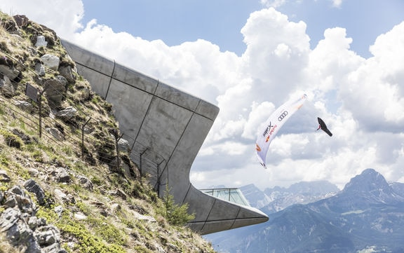 Paul Guschlbauer at Turnpoint 4, Kronplatz, Italy during Red Bull X-Alps at on June 18, 2019. © Harald Tauderer / zooom
