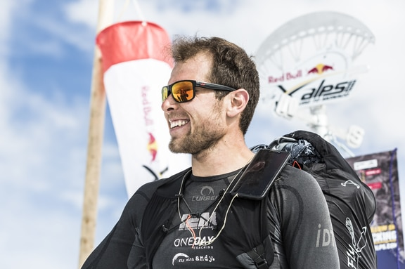 Patrick von Kaenel (SUI2) performs during the Red Bull X-Alps at Turnpoint 7, Switzerland on July 21, 2019