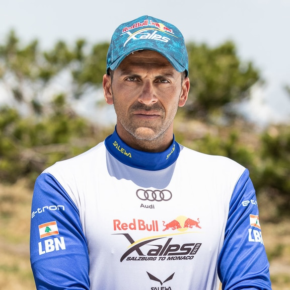Rodolphe Akl (LBN) poses for a portrait during the Red Bull X-Alps preparations in Wagrain, Austria on June 11, 2019