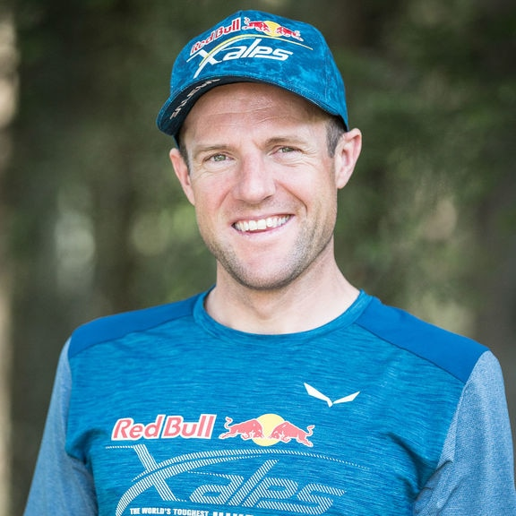 Christian Maurer (SUI1) poses for a portrait during the Red Bull X-Alps in Wagrain, on June 11th, 2019