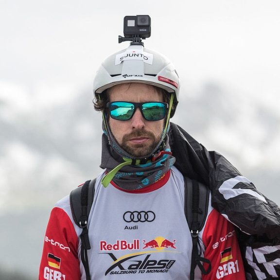 Manuel Nuebel (GER2) performs during the Red Bull X-Alps preparations at Wagrain, Austria on June 10, 2019