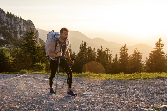 Marko Hrgetic (HRV) hikes during the Red Bull X-Alps in Aschau im Chiemgau, Germany on June 17, 2019