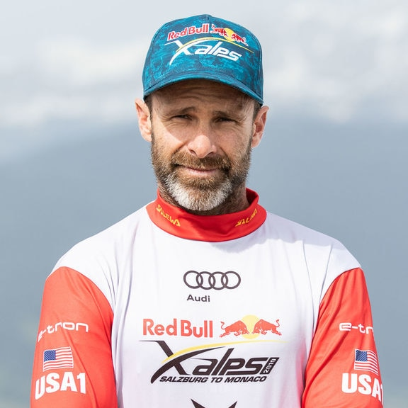 Gavin McClurg (USA1) poses for a portrait during the Red Bull X-Alps preparations in Wagrain, Austria on June 10, 2019