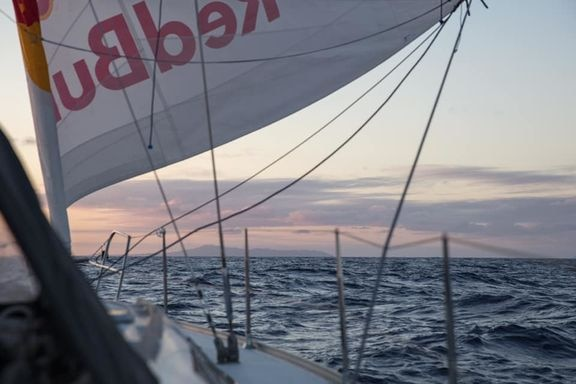 Tom de Dorlodot (BEL) on his way to the Azores with his sailboat, in search for some great flying conditions. Photo © Tom de Dorlodot