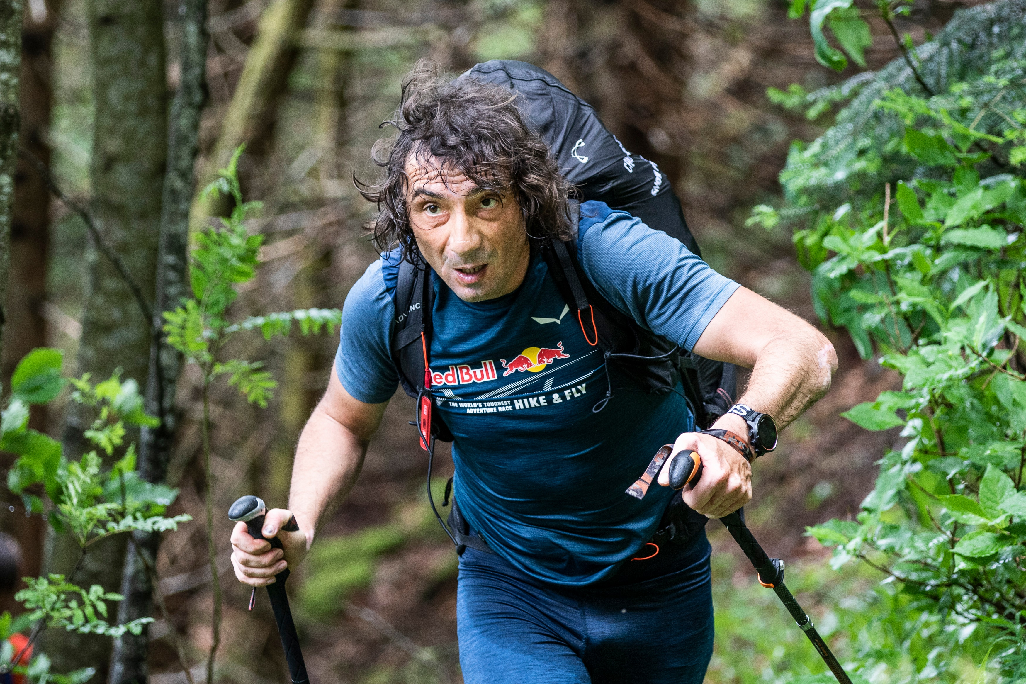Toma Coconea (ROU) runs during the Red Bull X-Alps in Salzburg, Austria on June 16, 2019
